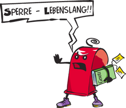 Sperre Lebenslang!